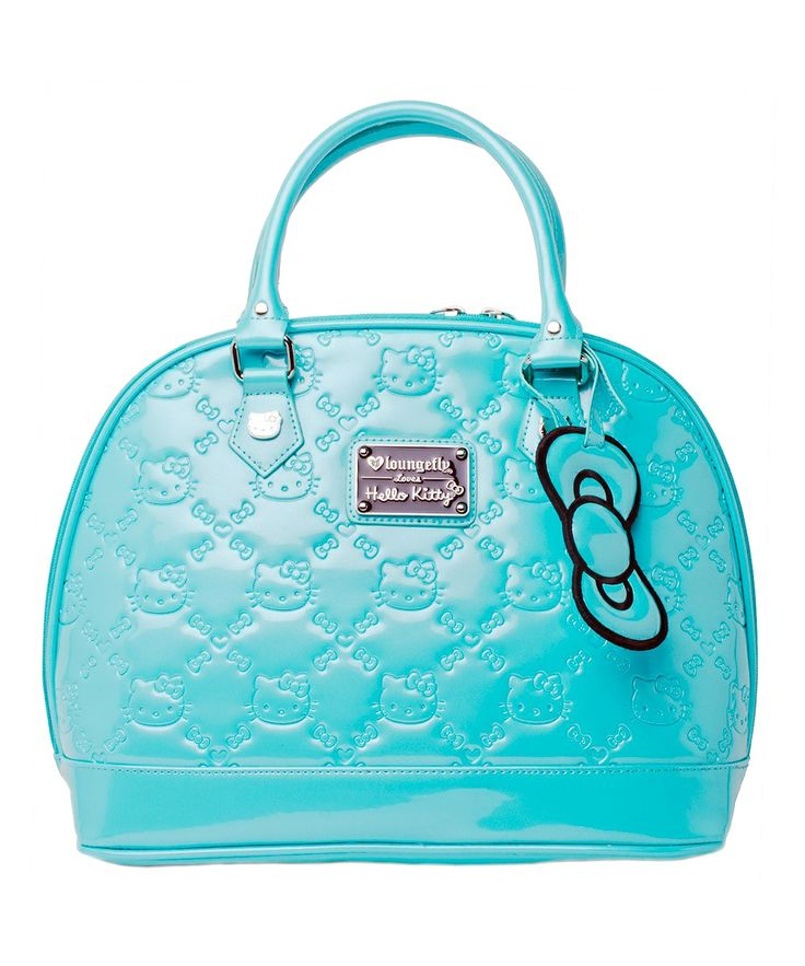 Teal Embossed Hello Kitty Tote