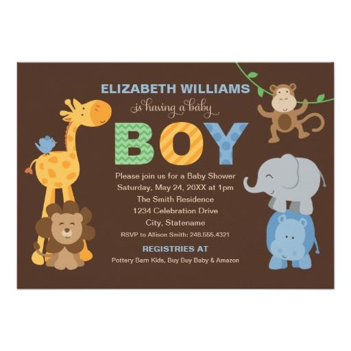 427 best Zoo and Safari Animals Baby Shower Invitations images on - best of invitation card for new zoo