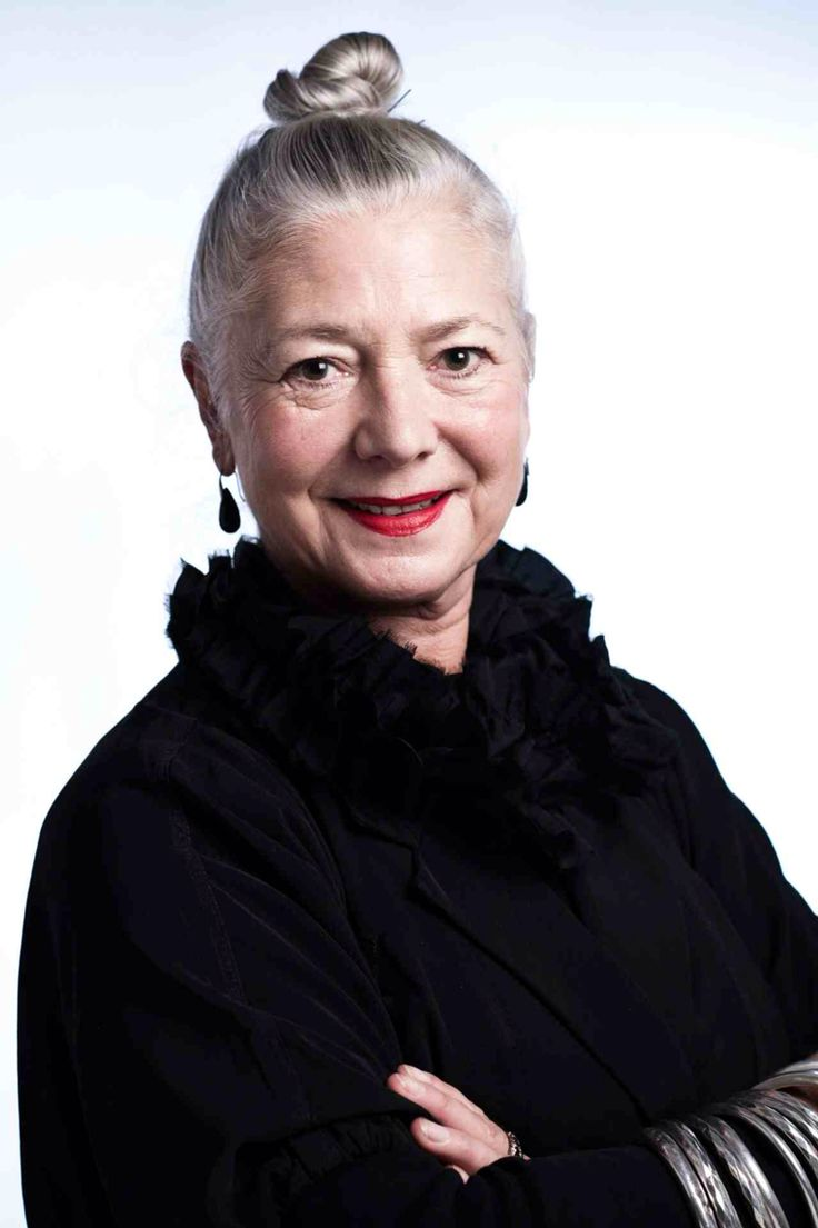 Wendy Dagworthy, grey topknot