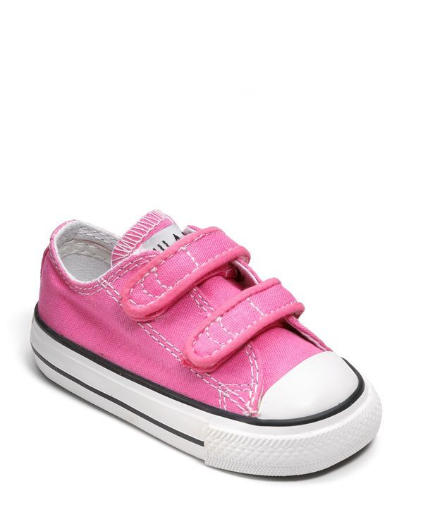Converse Girls' Chuck Taylor All Star Velcro Strap Sneaker - Baby, Walker, Toddler-I want these for Lucy so badly!!