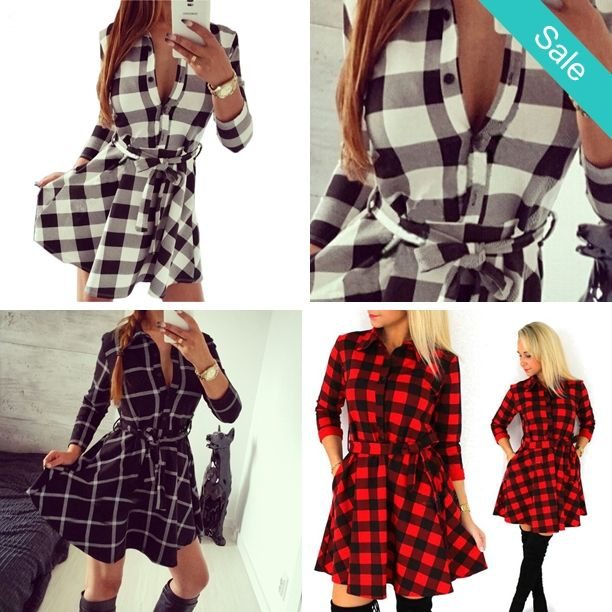 Trendy Plaid Leisure Vintage Shirt Dress/Tunic Several Color Options - A MUST have for the season! The perfect transitional piece from Winter to Spring and Fall to Winter!  $31.99 Wednesday Specials * Clothing 30% off * Name Brands 20%  * Winter Sales Rack 50% off (Statesville Store)