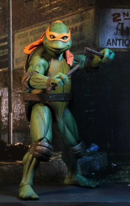 PRE-ORDER 1/4 Scale Teenage Mutant Ninja Turtles (1990 Movie) Michelangelo Figure by NECA