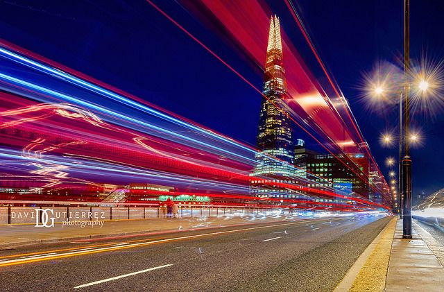"""Night Pulse"", The Shard, London, UK. Image by David Gutierrez Photography, London Photographer. London photographer specialising in architectural, real estate, property and interior photography. http://www.davidgutierrez.co.uk #realestate #property #commercial #architecture #London #Photography #Photographer #Art #UK #City #Urban #Beautiful #Interior #Arts #Cityscape #Travel #Building #River #Bridge #Night #Twilight #Street"