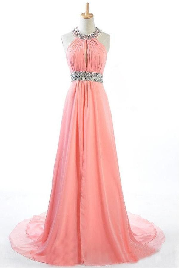High Waist Long Chiffon Pregnant Dresses,Prom Dresses
