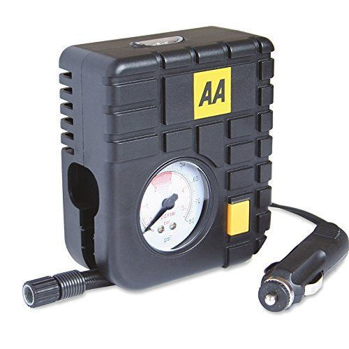 From 9.31:Tyre Inflator Air Tool 12v AA Heavy Duty Mini Emergency Tyre Compressor Car Tyre Inflator or for Bike / Bicycle Tyres with Internal LED Light for up to 80PSI