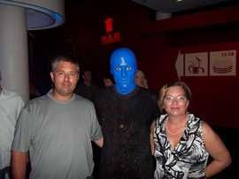 Please vote for me!  I REALLY need a vacation!!! Hubby and I were fortunate to go to Berlin, Germany. While there, we saw the Blue Man Group. Fun times!