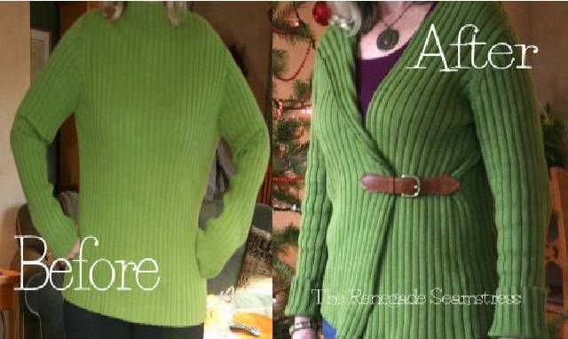 2 Ways To Refashion Old Sweaters Into Beautiful Fashionable Cardigans » The Homestead Survival