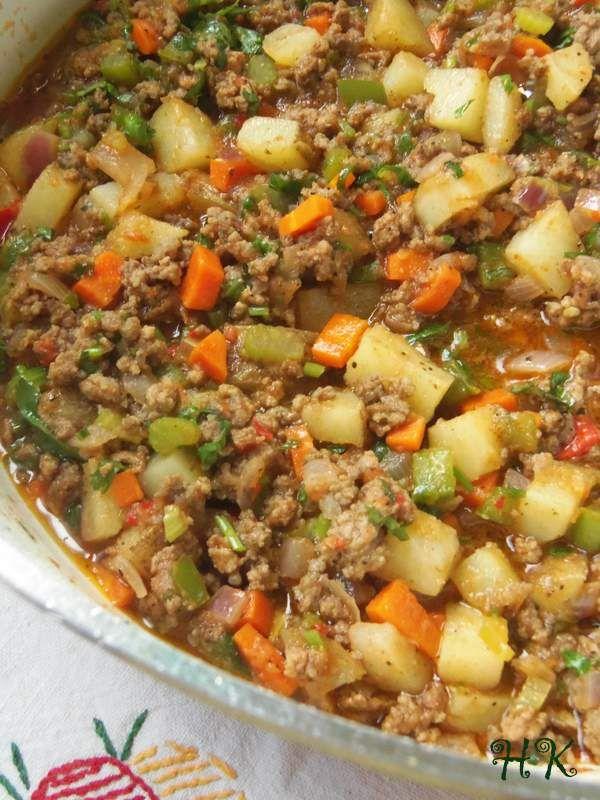 Hearty Fall Beef Picadillo HispanicKitchen.com