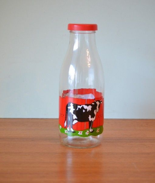 french milk bottle cows