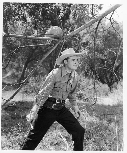 WATCH OUT - Charles Starrett as 'The Durango Kid' - Smiley Burnette - Columbia Pictures - Publicity Still.
