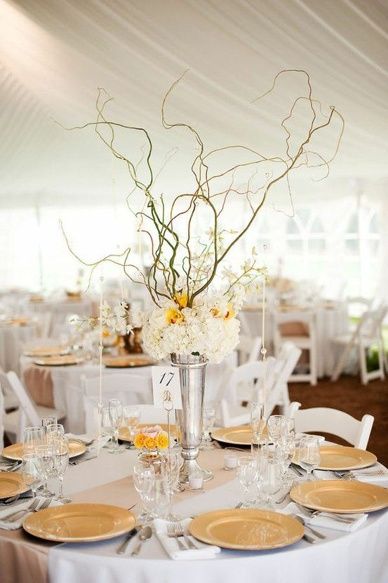Branch centerpiece tall wedding ideas pinterest
