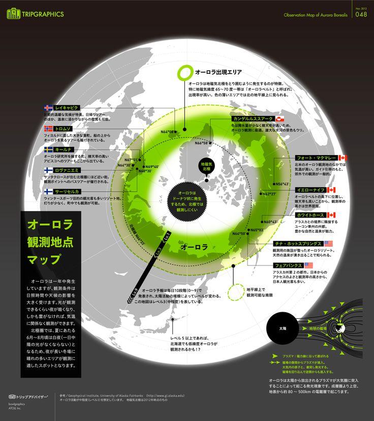 オーロラ観測マップ トリップアドバイザーのインフォグラフィックスで世界の旅が見える