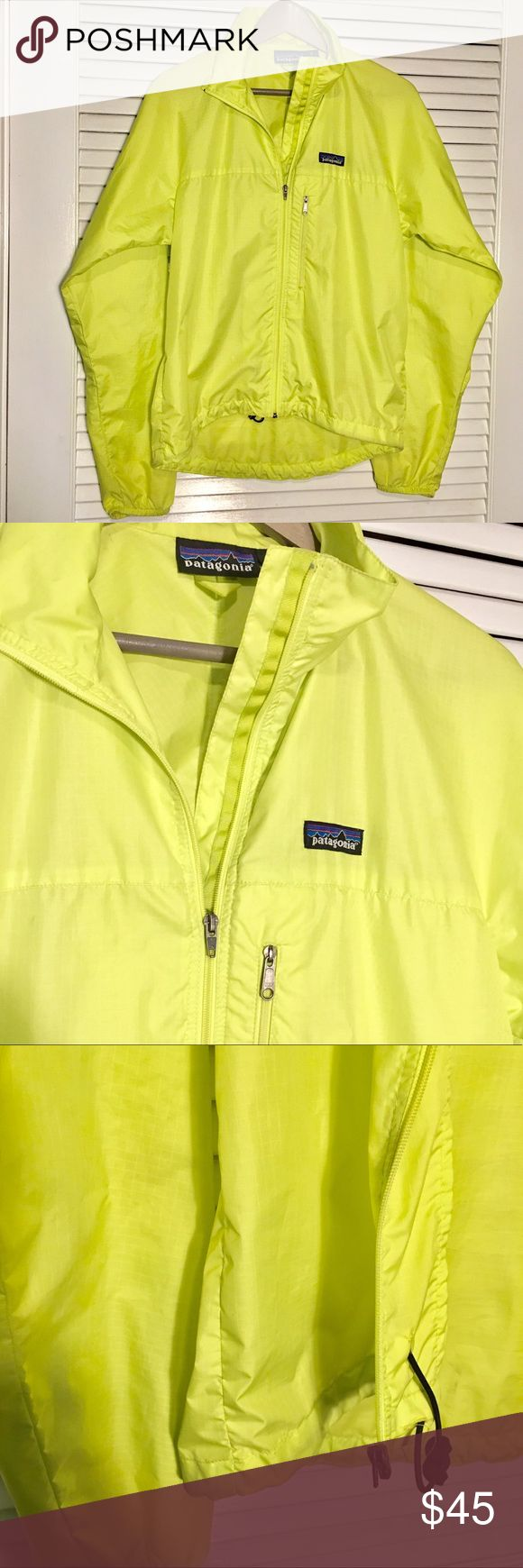 Patagonia Houdini Light Jacket, Yellow Packable Very good