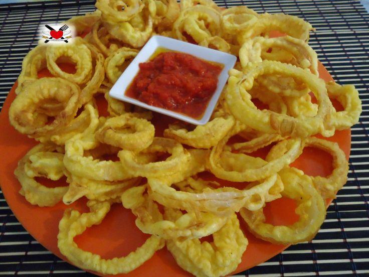Onion rings - anelli di cipolla croccanti - ricetta americana