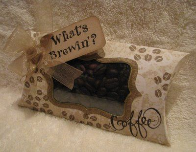 What's brewin'?Gift Baskets, Paper Goodies, Crafts Ideas, Diy Crafts, Gift Ideas, Boutiques Items, Cardmaking Ideas, Clever Creations, Coffee Addict