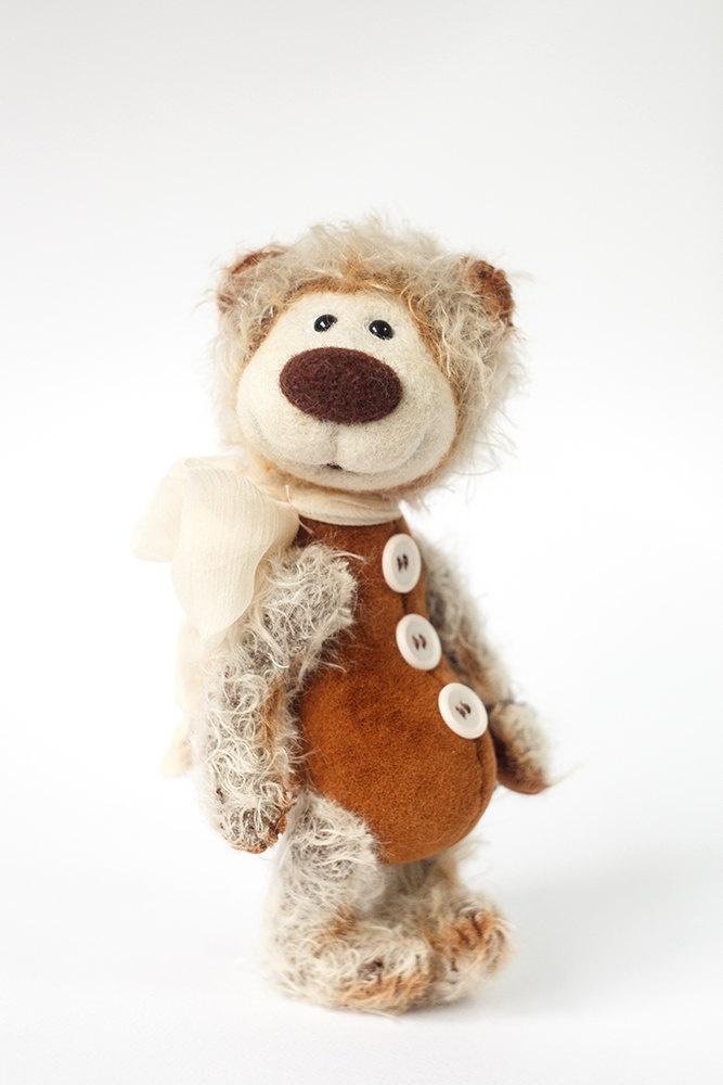 Collectible mohair teddy bear Jonas Artist Bear OOAK.