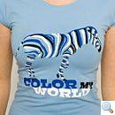 Das Color-My-World-Zebra: Flexdruck mit 3 Farben