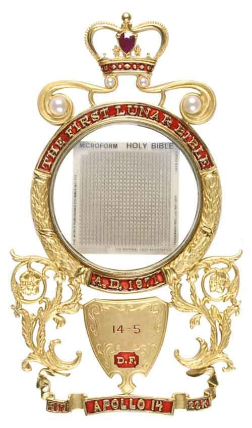 'Lunar Bible' That Went to Moon Fetches $75K at Dallas Auction  (Christian Post 16 May 2014)