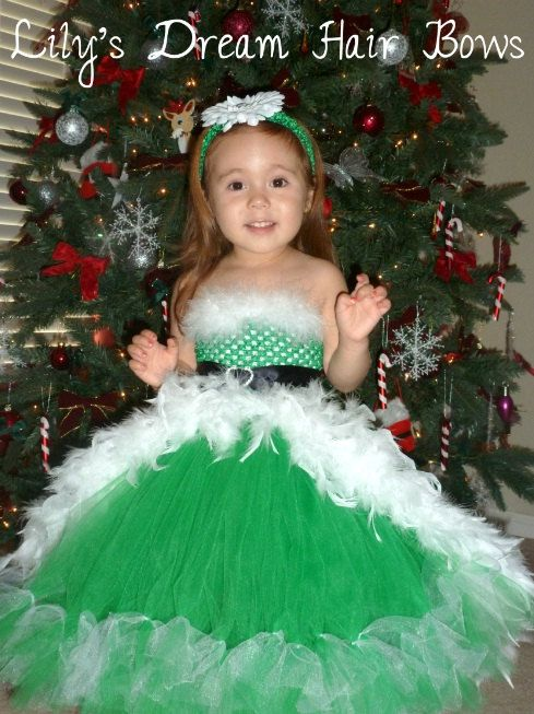 FREE SHIPPING to US  christmas tutu dress  by LilysDreamHairBows, $74.99