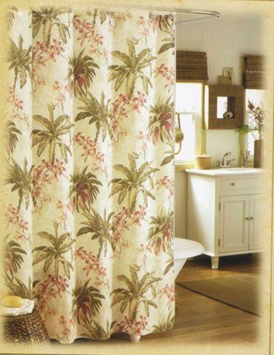 Designer Tommy Bahama Bath Curtain Palm Tree Shower Curtain And Bath Accessories Pinterest