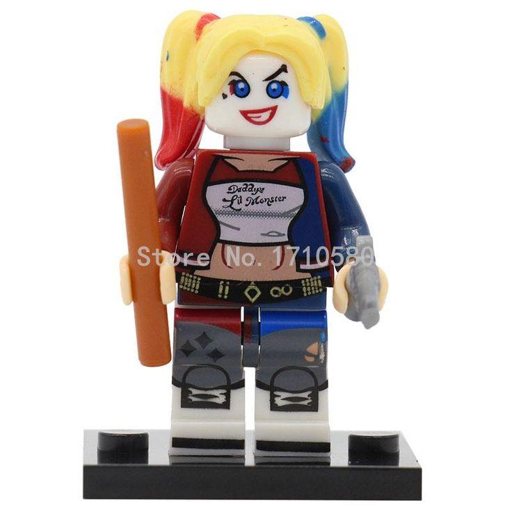 Pogo harley quinn figura sola venta xinh 257 bloques de construcción de modelos dc superhéroe batman niños juguetes para niños
