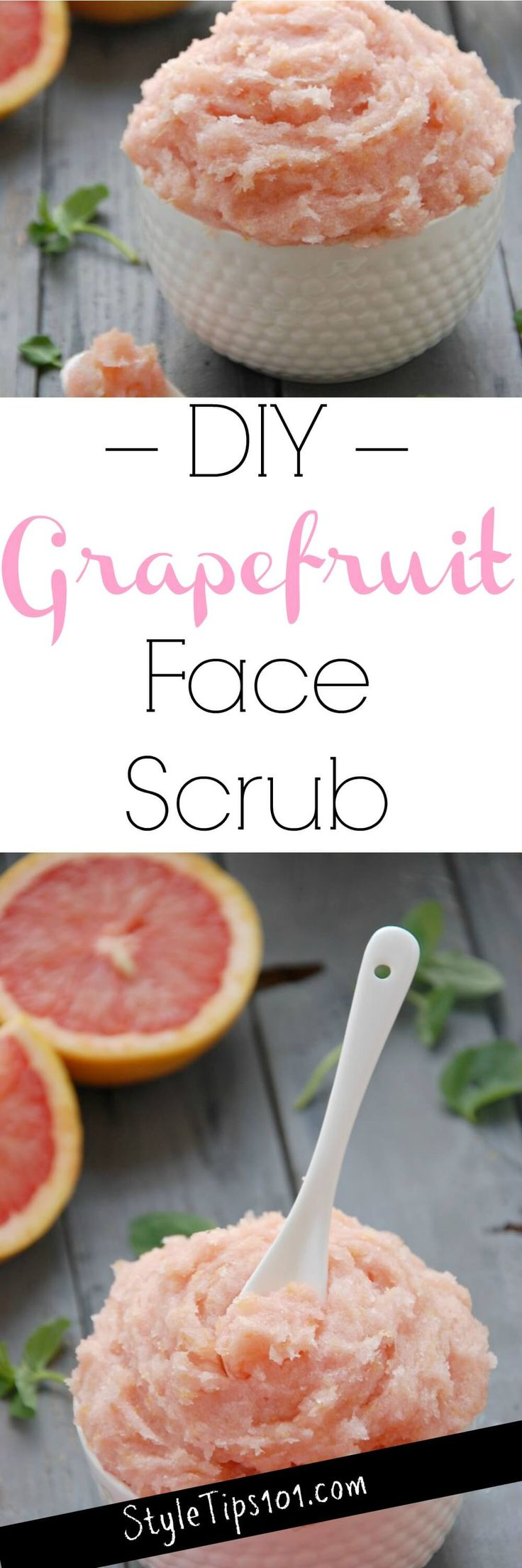 Homemade Grapefruit Face Scrub