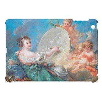 Allegory of painting Boucher Francois rococo lady iPad Mini Cover #allegory #painting #boucher #Paris #France #art #woman #girl #cherubs #angels #rococo #accessory #gifts #classic #customizable #home #decoration