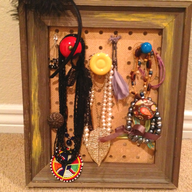 11 best images about jewelry wall on pinterest jewelry for Hobby lobby jewelry holder