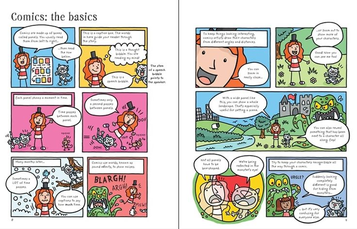 See inside 'Write and draw your own comics' from Usborne | #children's #books #new #October #DIYcomics #comicstrips #comics #creative #activities
