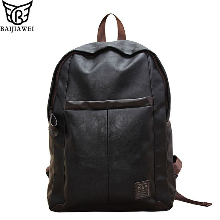 >>>Low Price GuaranteeHot Sale Oil Wax Leather Backpack For Men Western College Style Bags Leather Laptop Bag Casual Backpack