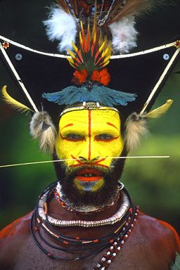 Aboriginal war paint.  For more ethnic fashion inspirations and tribal style visit www.wandering-thr...