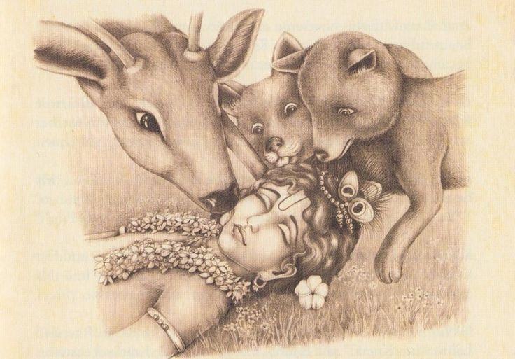 Krishna love cows