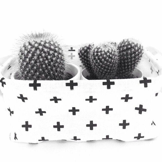 Onze canvas woonamanden kan je voor alles gebruiken, zoals papier opbergen, maar ook is het een leuk idee om er cactusjes in te zetten. Bedankt voor de foto happy.friyay.
