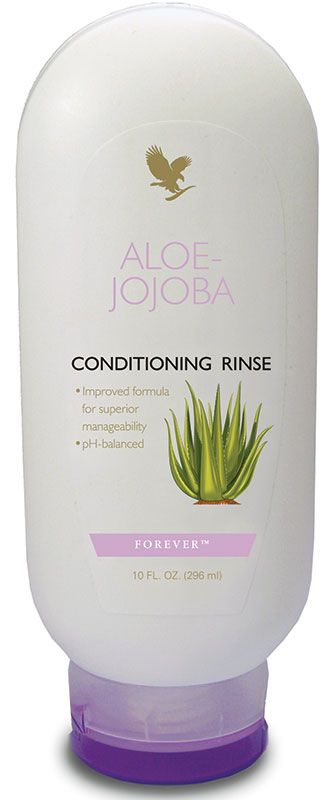 Forever Living - Aloe-Jojoba Conditioning Rinse. Pure aloe formula enriched with vitamin B complex to nourish, strengthen and protect the hair. pH balanced for a healthy scalp and glossy, shiny and manageable hair. http://www.beforeverfree.myforever.biz/store
