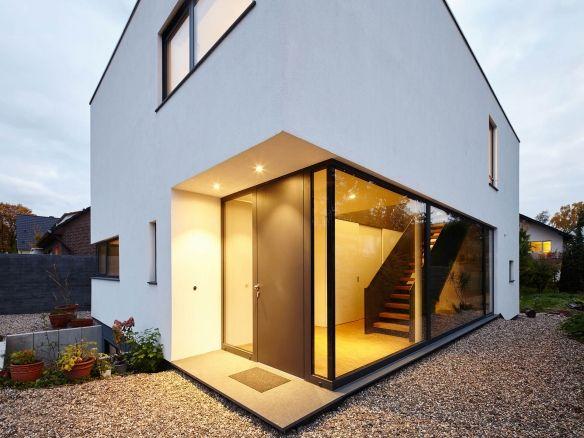 Moderne Hauser Wohnhaus Koln Weiss Corneille Uedingslohmann Architekten Haus Architekt Wohnhaus