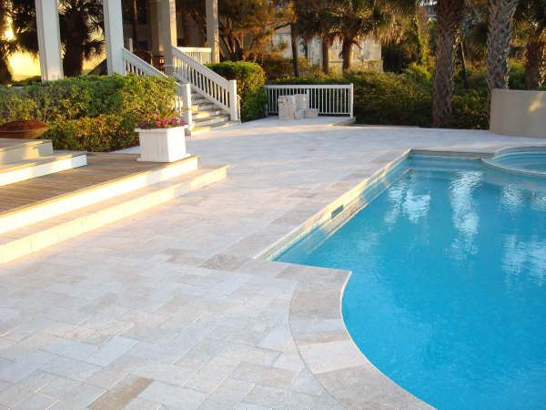 Ivory Travertine Travertine Pavers Polished Stone French