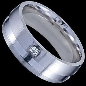 Sterling silver wedding ring (silver = for cost effective wedding :)