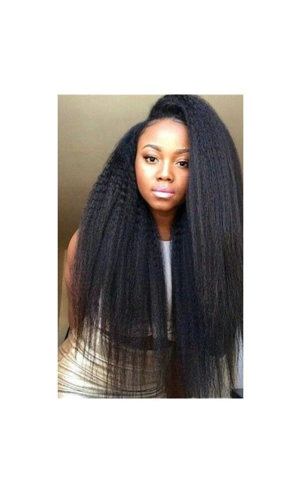 Best Human Hair Wigs in 2017 - Kinky Straight Lace Front Human Hair Wig - BEST02 - Best Human Hair Wigs in 2017 - EvaWigs
