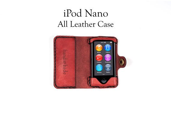 iPOD NANO 7TH GENERATION LEATHER CASE  ☞ Looking for an iPhone case? Look here: https://www.etsy.com/shop/HANDandHIDE/search?search_query=iphone ************************************************************************* Construction time is 2 weeks. We make everything here in the USA in our Portland, OR studio; hand-stitched and made-to-order to your custom specifications.  Need help making your order? Watch this short video: http://ss1.us/a/fE...