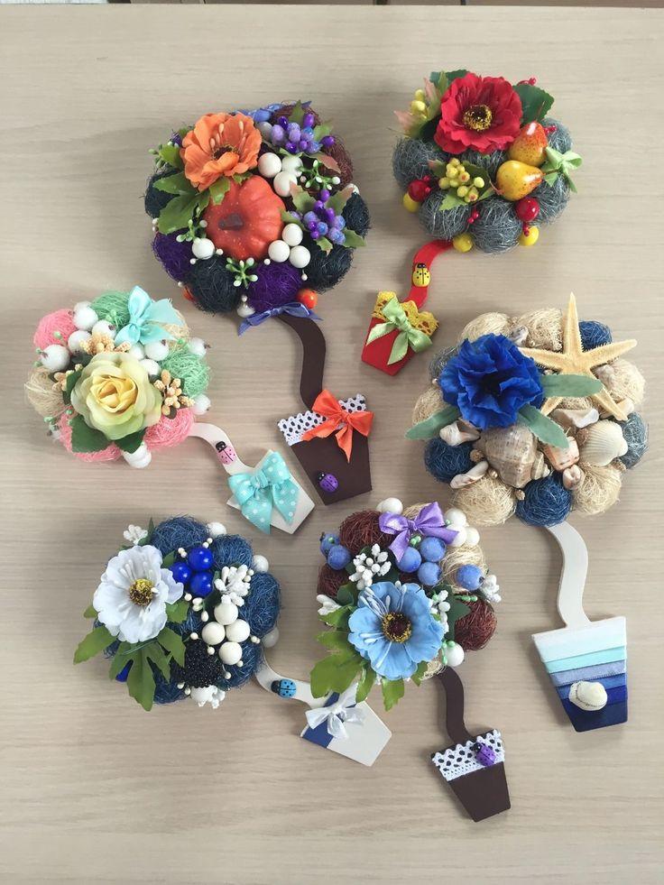 Купить Магнит на холодильник - Декор, декор для интерьера, цветочная композиция, топиарий, топиарий дерево счастья