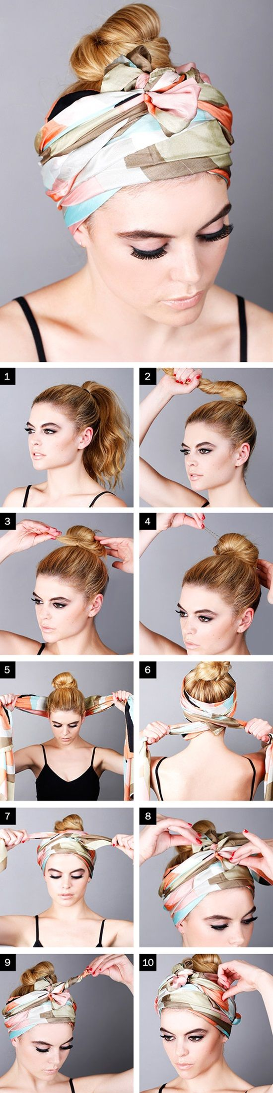 Wearing a headband will add a lovely touch to your stunning look, it can also hide any hair problems you have. Whether you have a long or short hair, and whatever your hair color is, you can always wear a headband in a way which suits your style. Here are 12 tutorials on how to wear the perfect headband.