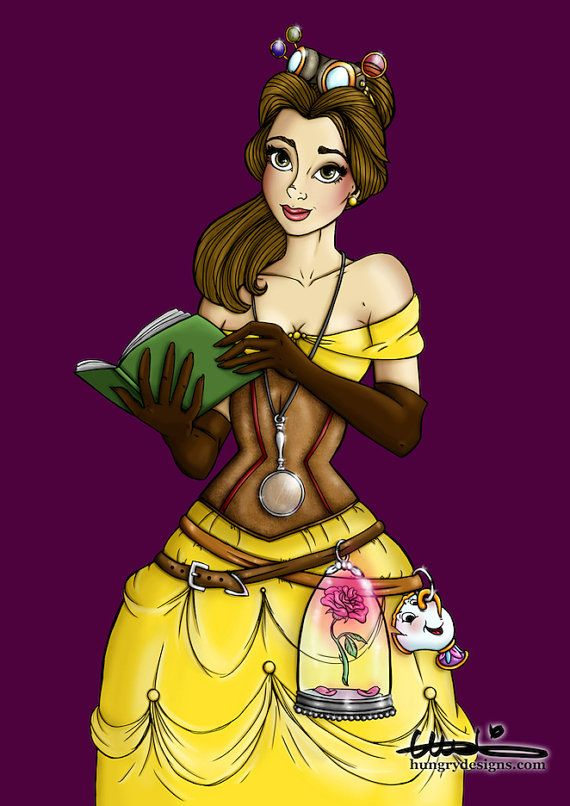 Steampunk Belle from Beauty and the Beast A4 Art by HungryDesigns, $12.00