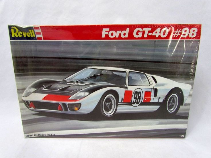 1 24 Scale Revell Ford Gt 40 98 Model Kit Nib Sealed 7131 Revell Model Cars Kits Plastic Model Kits Model Kit