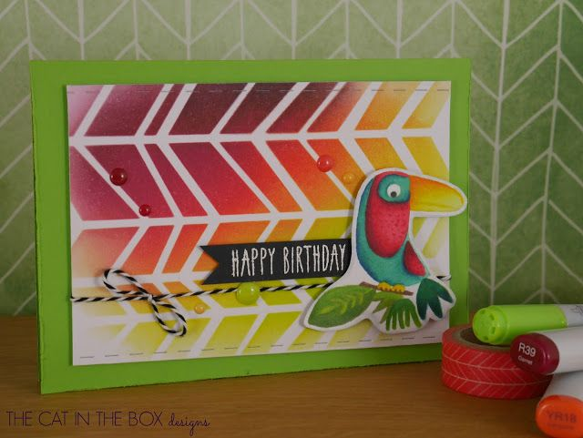 Rainbow jungle using #mftstamps - for more info visit http://thecatintheboxdesigns.blogspot.de/