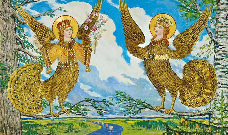 Paradise Birds of Ancient Russia by Ilya Glazunov, 2010.