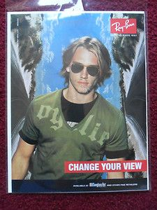 ray ban glass change  2005 print ad ray ban sunglasses change your view desert highway