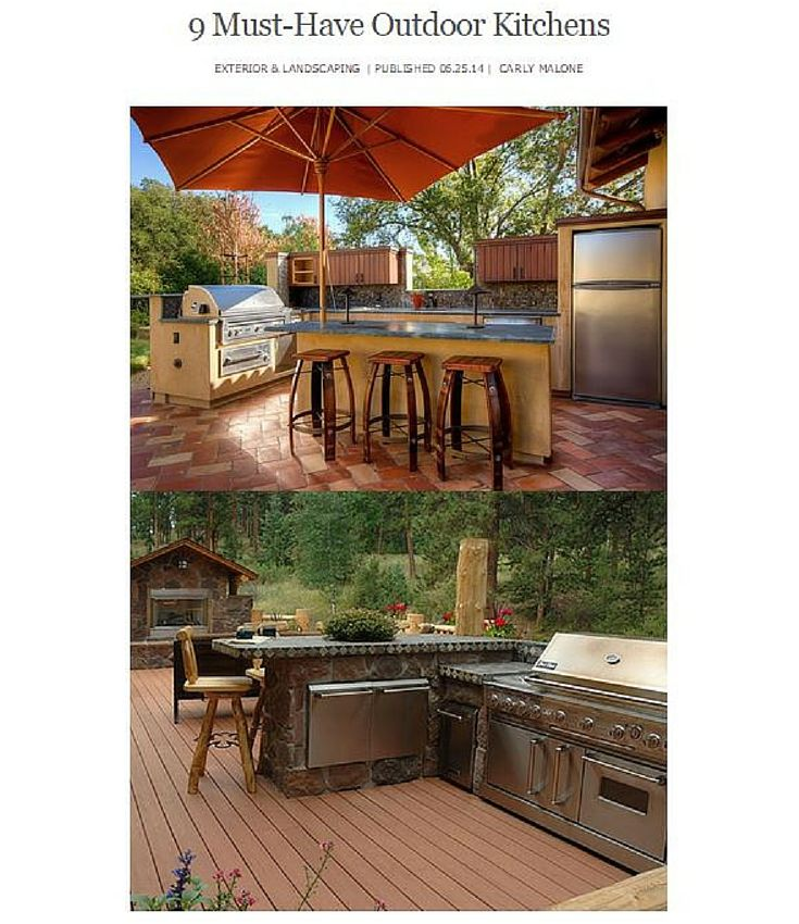 9 Must Have Outdoor Kitchens: 197 Best Outdoor Kitchens Images On Pinterest