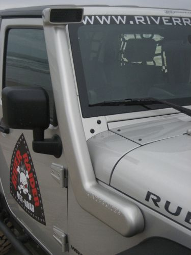 The River Raider Cast Snorkel - made from cast aluminum instead of cheap plastic, means it is going to last and take all the abuse the trail can dish out. Its high flow design means your Jeep can breathe better and run cooler!