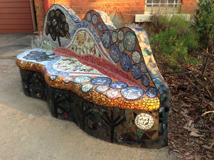Mosaic Couch at the Creswick Neighbourhood Centre, Photo compliments CNC