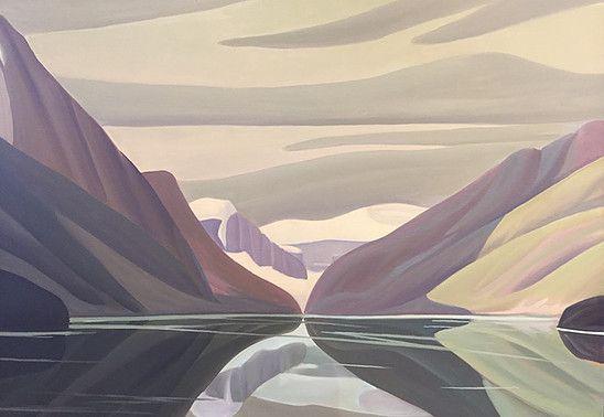 Ken Harrison - Reflections Lake Louise 36 x 48 Oil on canvas